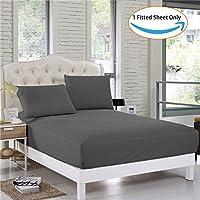 Vivacious寝具プレミアムホテル品質600tcエジプト綿100 % 1ピースフィットシート11