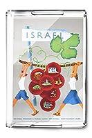 イスラエルヴィンテージポスター(アーティスト: Narkis )イスラエルC。1955(アクリルServing Tray )