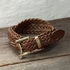 Daines and Hathaway Leather Braided Quick Release Belt 35mm