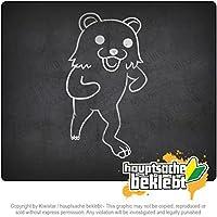 Pedobar / Pedobear running Pedobar / Pedobear running 20cm x 11cm 15色 - ネオン+クロム! ステッカービニールオートバイ