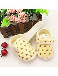 WIN  コーデュロイ ベビーブーティ ふわふわ 肌触り 子供 赤ちゃん 室内履き ベビールームシューズ 靴 新生児 出産祝い 歩行サポート (内寸10.5cm, イエロー)