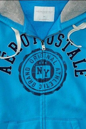 (エアロポステール)AEROPOSTALE パーカー Aéropostale Original Logo Full-Zip Hoodie ブルーダズル Blue Dazzle (XXL) [並行輸入品]