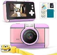 子供用デジタルカメラ トイカメラ キッズ デジカメ 前後2400万画素 1080P録画 連写 写真 タイマー撮影 自撮り 3倍ズーム 2.4インチ IPS画面 高画質 多機能 USB充電 子供のおもちゃ ミニカメラ 子供