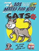 101 Mazes For Kids 2: SUPER KIDZ Book. Children - Ages 4-8 (US Edition). Cats custom art interior. 101 Puzzles with solutions - Easy to Very Hard learning levels -Unique challenges and ultimate mazes book for fun activity time! (Superkidz - 101 Mazes for Kids)