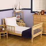 Nojo 3 Piece Toddler Sheet Set, White by Crown Crafts Inc (English Manual)