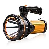 超高輝度懐中電灯 USB充電式 サーチライトled 強力大きい電池10000Mah ハンディライト スポットライト手持ち明るいフラッシュライトランタン 防災ライト屋外停電モバイルバッテリー アウトドア