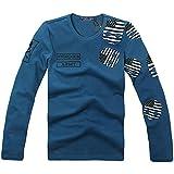 5722(ハイドロゲン) 2017 メンズ Tシャツ おしゃれ ブランド ドクロ スカル カジュアル 長袖 HYDROGEN (L, Blue)