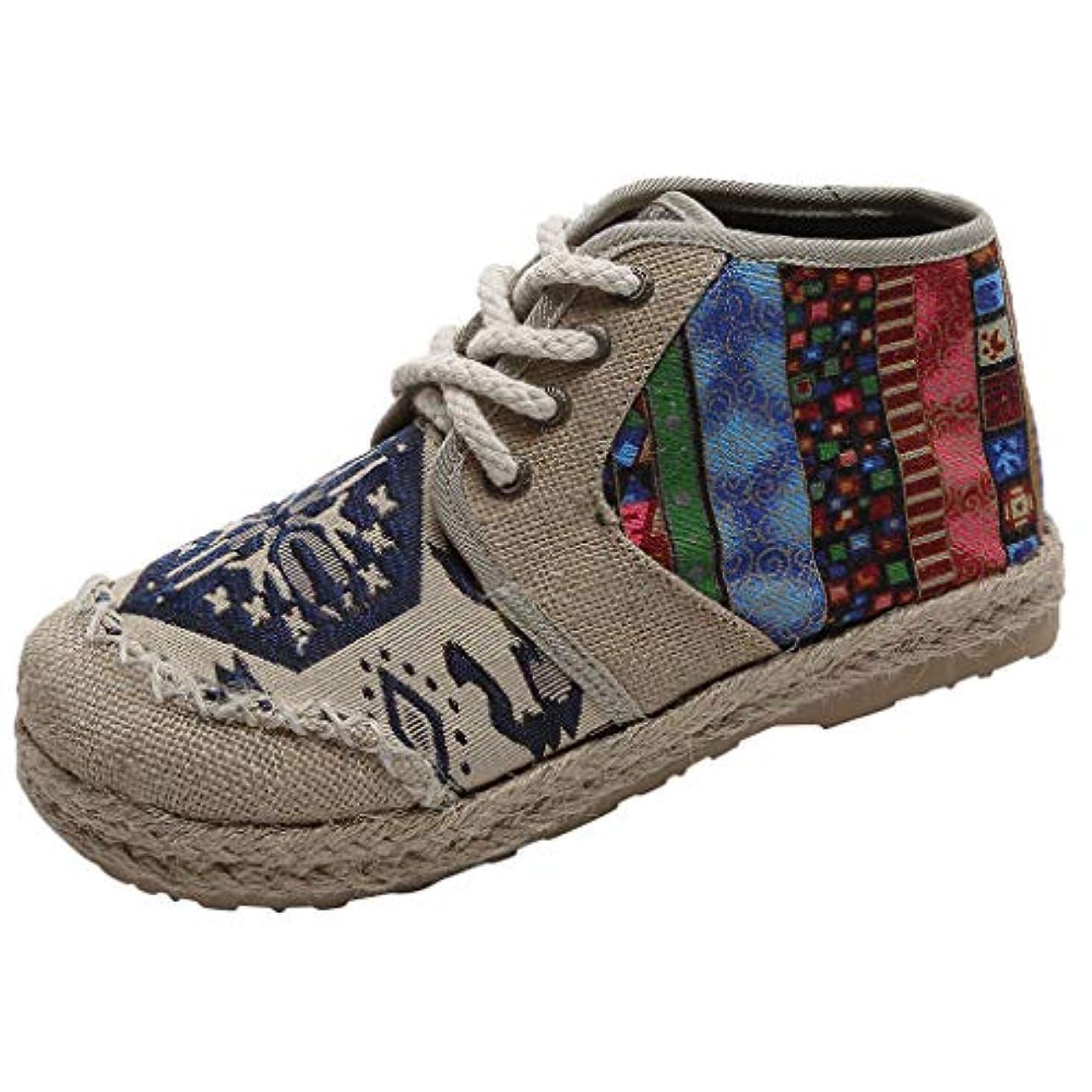 セクションつぶやきシリング[Sucute] 国立風の婦人靴 リネンレトロ 学生 カジュアル 大型 シングルシューズ 高い助け ファッショントレンド 海沿いの旅行に適しています (35-43)