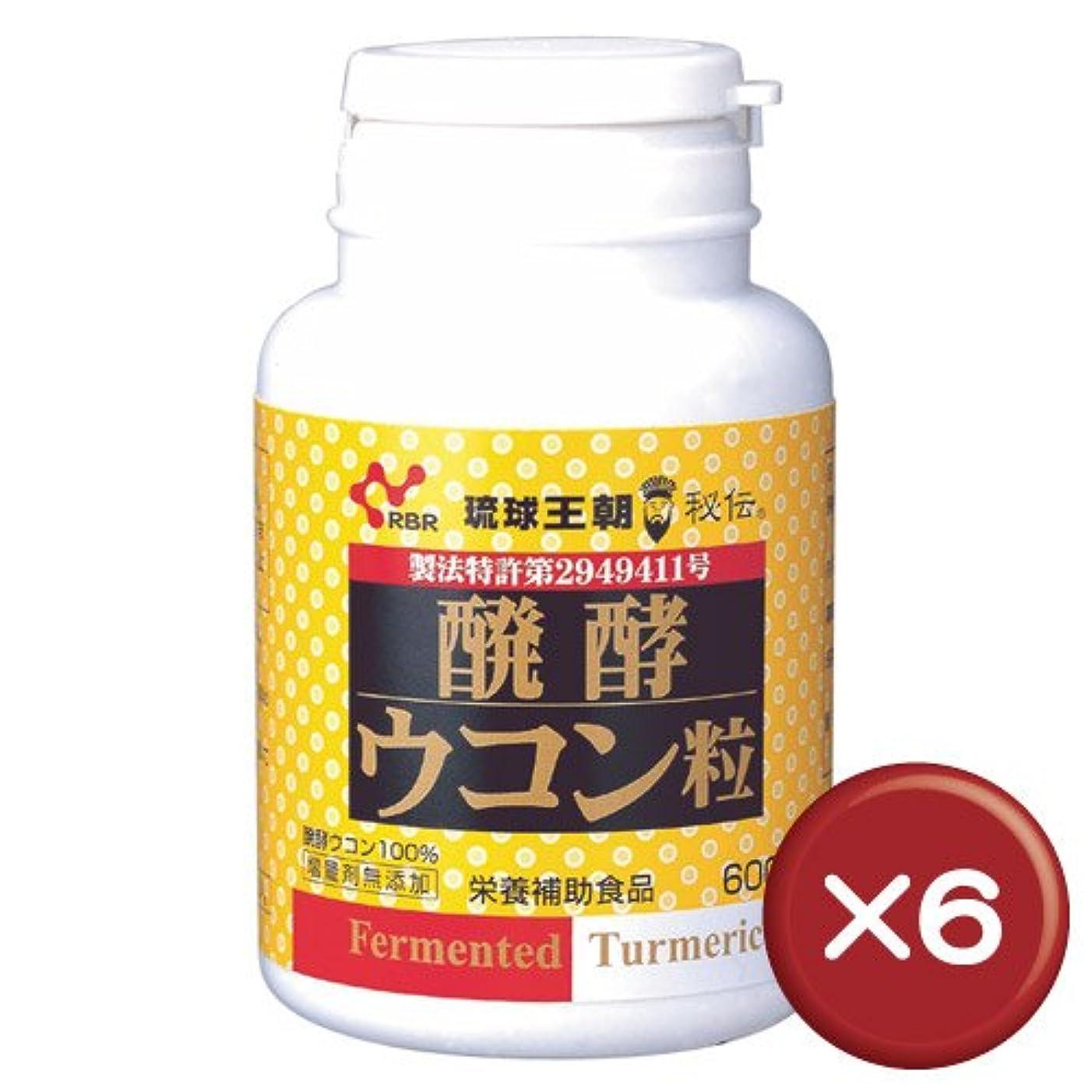 定期的熱心の量醗酵ウコン粒(600粒入) 6個セット