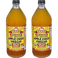 Bragg オーガニック アップルサイダービネガー 946ml 2本セット Bragg Organic Raw Unfiltered Apple Vinegar 32oz set of 2 [並行輸入品]