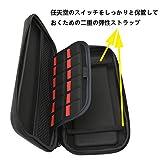 ニンテンドー スイッチ専用の保護ケース収納バッグ EVA 防塵 耐衝撃 ニンテンドー スイッチカバー 旅行に最適 (黒)