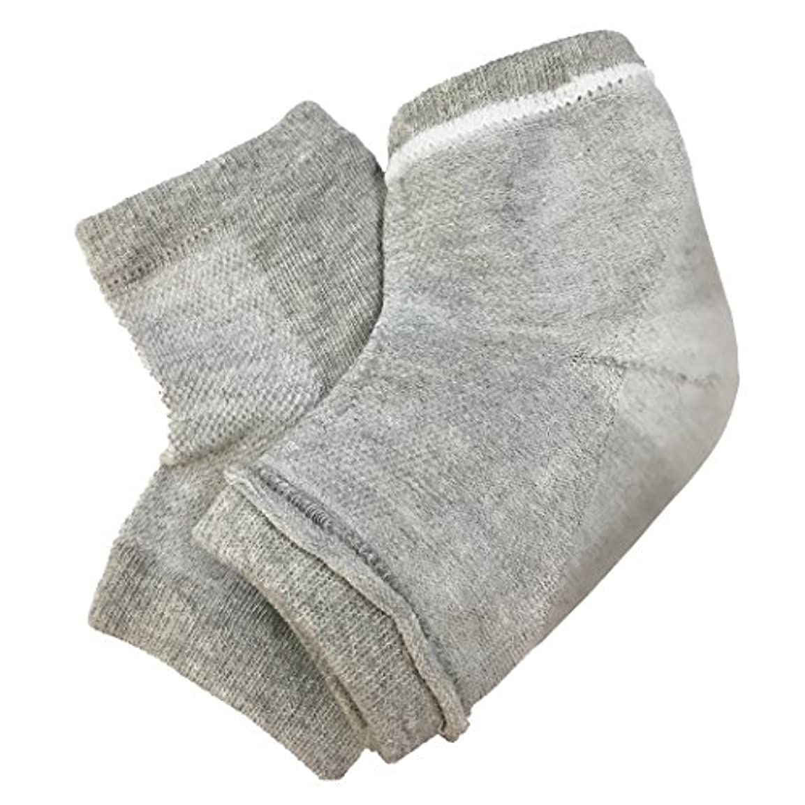 シリンダー回復創造fla-coco かかとケアソックス 【同色2足入り】 靴下 フットケア 角質ケア ひび割れ ガサガサ 保湿 ソックス (グレー【2足】)