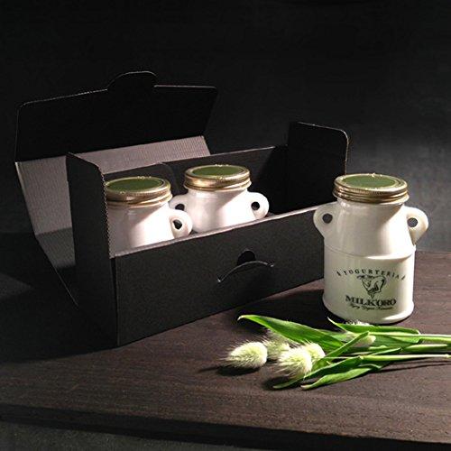 YOGURTERIA MILK'ORO 金色のミルク 2層式 MILK'ORO(みるころ) エイジング・ヨーグルト ギフトボックス 200g×3本入 まとめてお得2箱 [計1,200g]