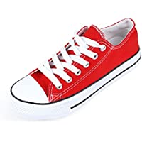 DEEBAI Unisex Fashion Lace up Sneaker Low Top Canvas Classic Casual Shoes