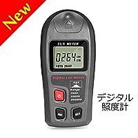C-Timvasion デジタル照度計 最大200,000Luxまで計測可 工場 店舗 オフィス 家庭などの照度測定に活躍 日語説明書
