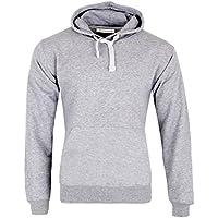Janisramone Mens Boys New Plain Fleece Hooded Long Sleeve Pullover Sweatshirt Hoodie Casual Jacket Gym Top