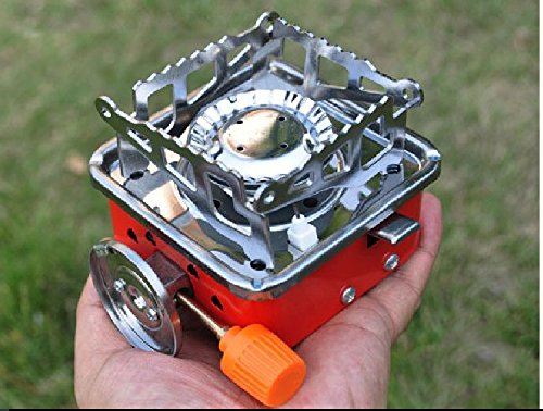 Luckerjun ガスバーナー アウトドア ミニ シングルバーナー ストーブ キャンプ 登山 釣り 災害備品に カセットコンロ 携帯