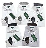 グリニッジ ポロ クラブ 長袖ワイシャツ5枚セット 豊富な7サイズ pf 022-M