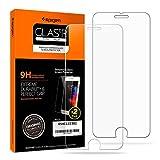 【Spigen】 (2枚入) iPhone8 / iPhone7 ガラスフィルム 貼り付け簡単 4.7インチ用 薄さ0.4mm 強化ガラス 液晶保護フィルム 高透過率 保護 【貼り付けキット付き】 054GL22382 (Glas.tR EZ Fit)