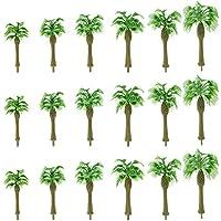 情景コレクション 熱帯雨林 ヤシの木 樹木 モデルツリー ツリー模型 プラスチック製 4-10cm 6サイズミックス 1:50~1:150 N HOゲージ用 18本 風景 箱庭 鉄道模型 建物模型 ジオラマ 教育 DIY