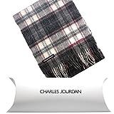 (シャルルジョルダン) CHARLES JOURDAN 全24柄 イタリア製 メンズ ウール 100% マフラー チェック ストライプ 柄 マフラー ブランド タイプ06