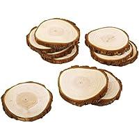 Myoffice 人気 木材チップ 結婚式 パーティー 撮影用 小物 カード 装飾 工芸品 DIY 木のスライス 8?9cm