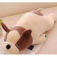 HuaQingPiJu-JP ぬいぐるみ55cm動物玩具ぬいぐるみ犬の枕ドール犬のおもちゃのギフトホームデコレーション(ベージュ)