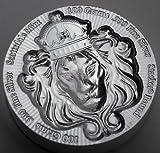100グラム 純銀 .999 メダル 重ねる インゴット 「スタッカー」 バー アメリカ スコッツデール社 高純度 銀 ライオン シルバー