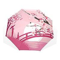 許さんの店 折りたたみ傘 レディース メンズ 軽量 UVカット 8本骨 丈夫 遮光 撥水 耐風 収納ケース付 プレゼント 001493