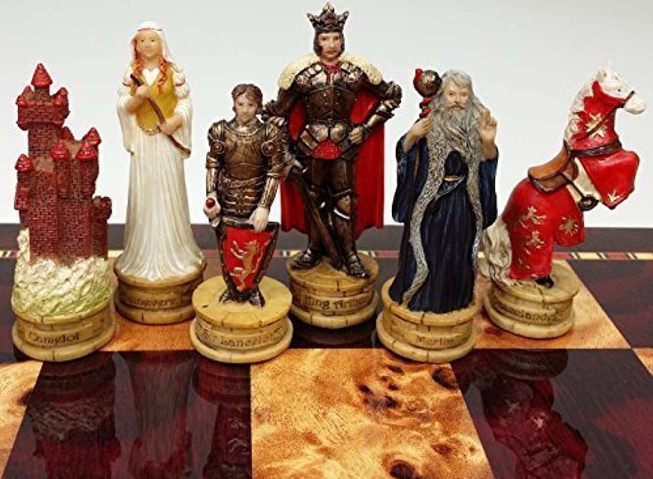 King Arthur / Sir Lancelot Medieval Times Camelot Chess Men Set- NO BOARD [並行輸入品]