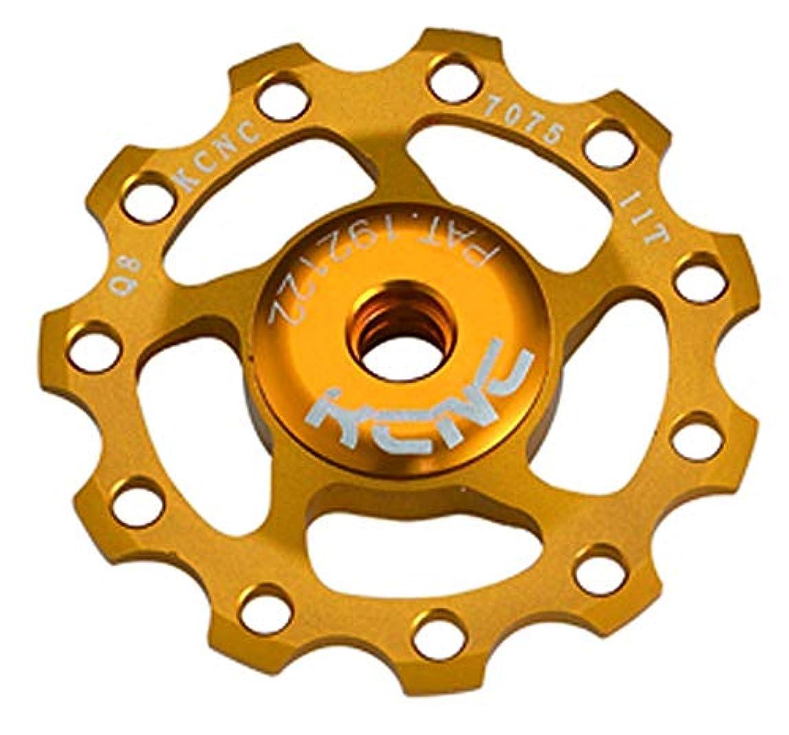 州アクセル種をまくKCNC 自転車 軽量 ベアリング内蔵 ディレーラーパーツ ジョッキーホイール 11T プーリー 11S/10S/9S ゴールド 304389