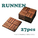 IKEA RUNNEN 27枚セット フロアデッキ タイル  連結可能