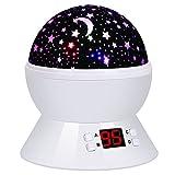(改良版)ベッドサイドランプ スタープロジェクター 投影ランタン プラネタリウ タイマーあり 360°回転 モード多様 多色変更可..