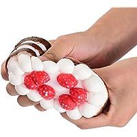 Decompressionおもちゃ、xeduo精巧なキュートストロベリーケーキ香りつきSquishyチャームスーパーSlow Rising Relieve Stressシミュレーションソフトおもちゃギフトforキッズ Size: 11x7cm(diameter*height) ブラウン