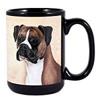 Boxer Uncropped Dog Breed Traits Ceramic Stoneware 15 Ounce Mug by Pet Gifts