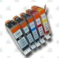 5Chipped大容量PGI - 520& cli-521互換インクカートリッジCanon Pixma ip4600プリンタ