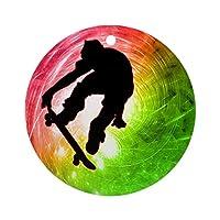 サイケデリックオーナメント(ラウンド)のスケートボーダーパーソナライズされたセラミックホリデークリスマスオーナメントクリスマスギフトアイデア2019
