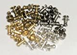 GOOD TOWN レザークラフト ギボシ 頭径4.5mm/5mm/7mm 金・銀・黒・古銅 40個セット (1)