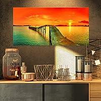 Design Art Fabulous Sunset Panorama Photography Seascape Canvas Print [並行輸入品]