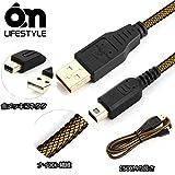 6amLifestyle New ニンテンドー3DS USB充電ケーブル New3DS/New 2ds LL/New 3DSLL/3DS/3DSLL/2DSDSi/DSi LL兼用 ナイロン編み 1.5m