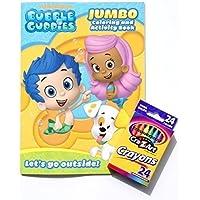 Bubble Guppiesジャンボカラーリングandアクティビティブックwithボックスof 24クレヨン