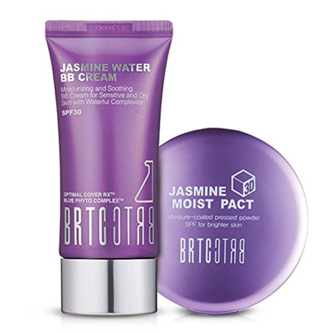 不良ニコチン目的【BRTC/非アルティ時】Whitening&Moisture Make Up Set ジャスミンビビファクトセット [BB Cream+ Moist Pact Set](海外直送品)