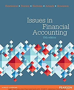 Issues In Financial Accounting By Henderson Scott
