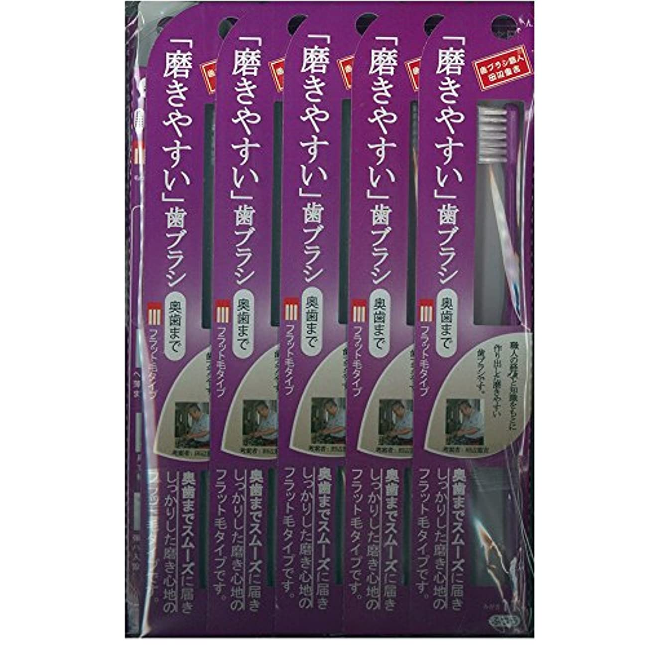 郵便と闘う福祉磨きやすい歯ブラシ(奥歯まで)フラット LT-11×12本セット( ピンク×4本、ブルー×4本、グリーン×2本、パープル×2本)