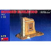Miniart 1:72 Ruined Building Plastic Diorama Accessories 72017