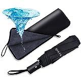 折りたたみ傘 ワンタッチ自動開閉 軽量 大きい メンズ レディース兼用 吸水カバー・ケース付き