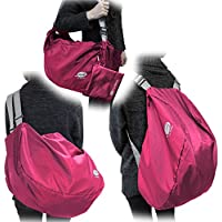 FlyBag 折り畳み 軽量 3way 旅行 バッグ (リュック ・ ショルダー バッグ ・ ボストン バッグ) ピンク