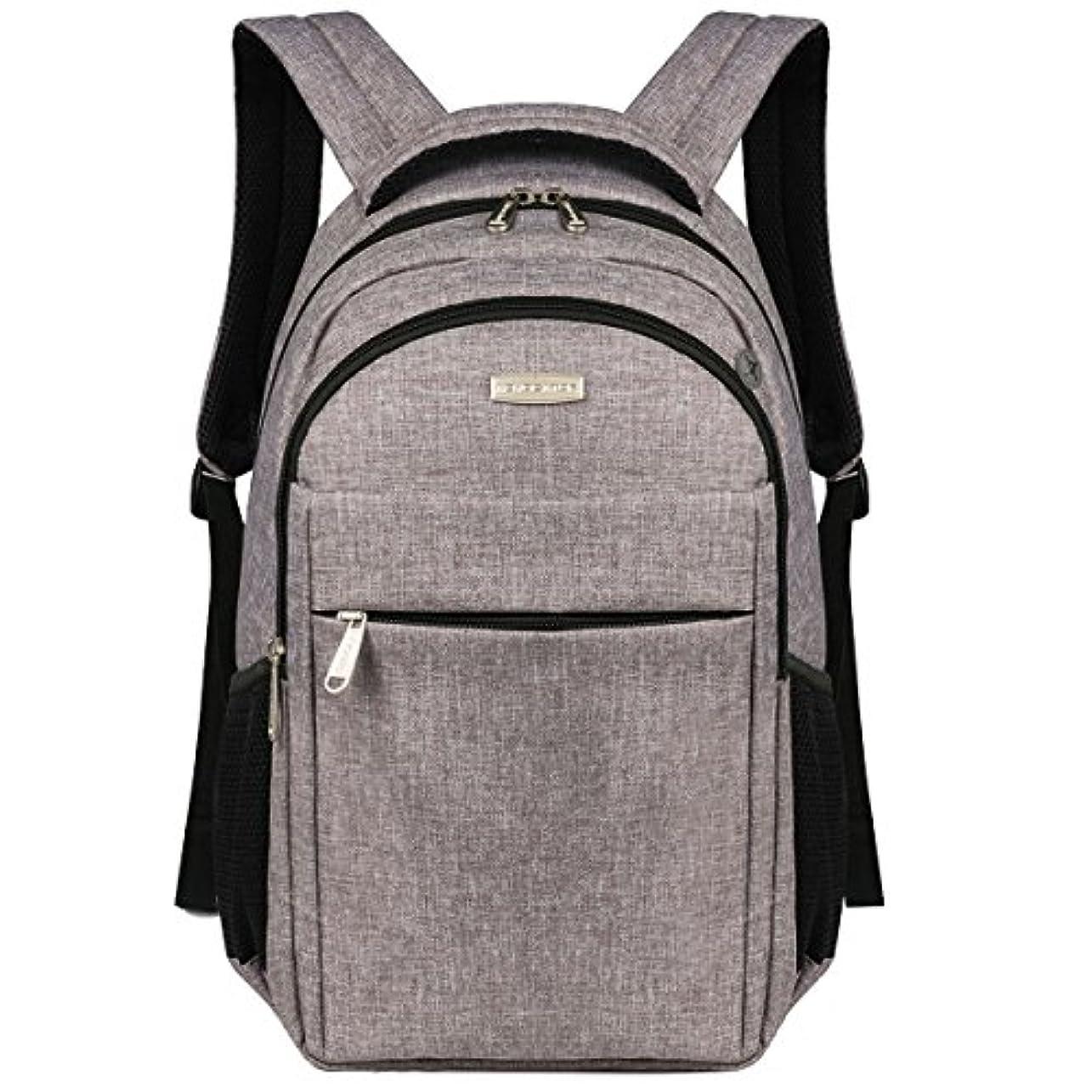 シーサイド処分した代表してAdvocator パソコン バックパック 人気 高校生 学生 iPad PC収納 多ポケット リュックサック 大容量 メンズ レディース