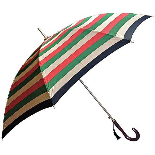 NOBEL(ノーベル) 甲州産先染め朱子格子・太ボーダー柄 日本製ジャンプ雨傘