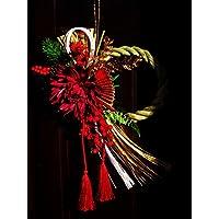 正月飾り ( 紅菊 しめ縄 壁飾り )  しめ縄 飾り 水引 玄関飾り